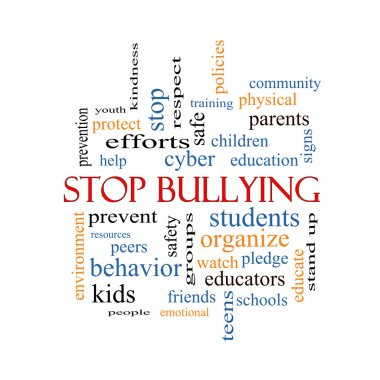 Stop Bullying Word Cloud Concept