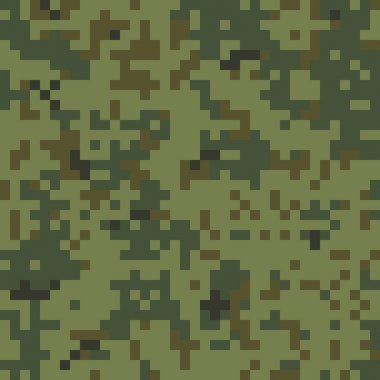 Seamless Digital Army Camouflage Pattern stock vector