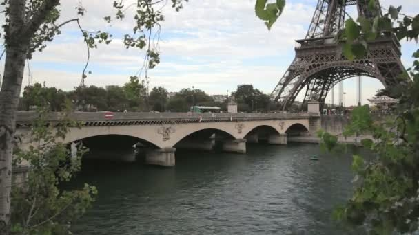 Jena Bridge and the Eiffel Tower in Paris