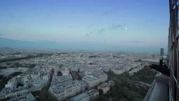 panoramatické pohledy na město z Eiffelovy věže
