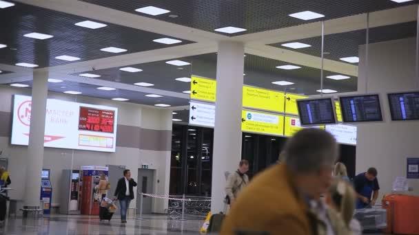 lidé na letiště Šeremetěvo