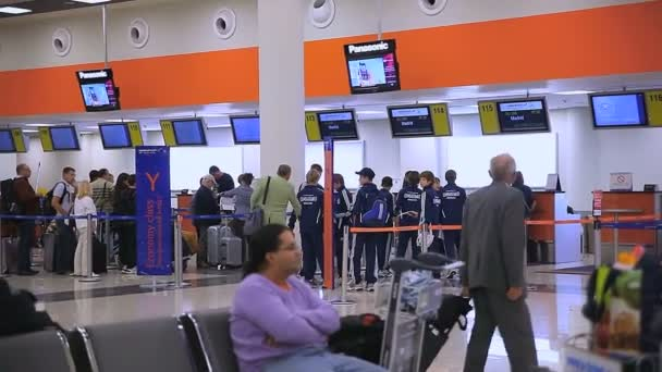 空港シェレメーチエヴォ国際空港でのチェックイン ・ カウンター