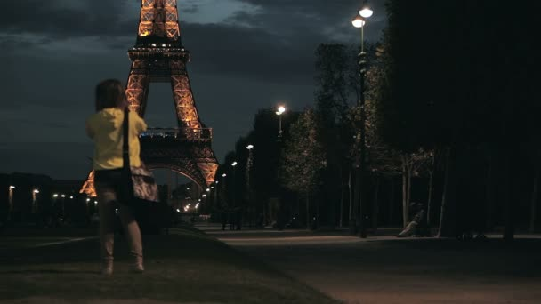 Alleya and the Eiffel Tower in Paris, France