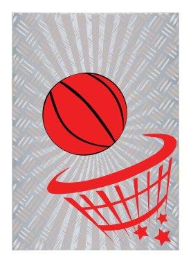 basketball on metal background