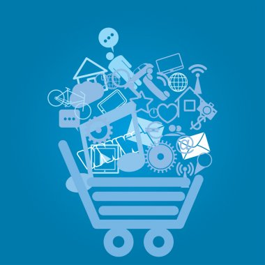 basket with shopping