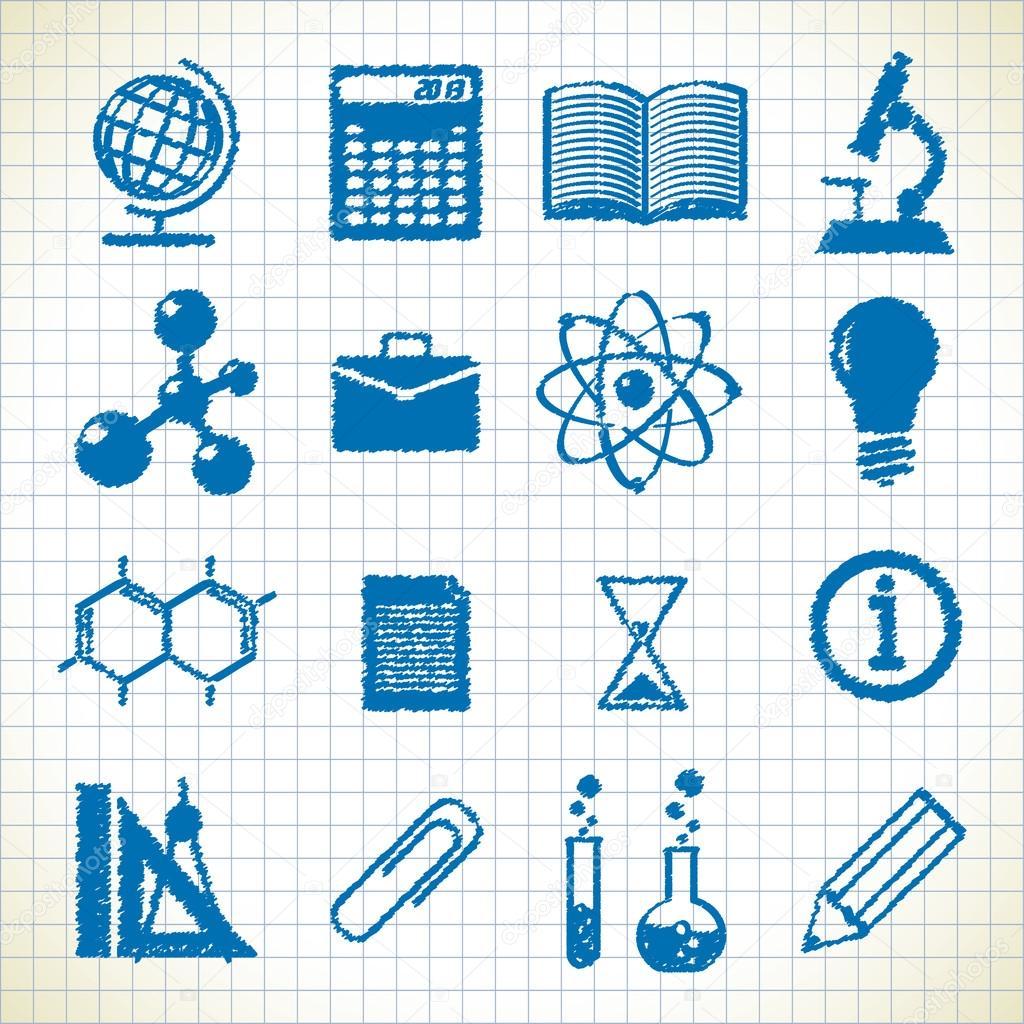 Symbols Of Education Stock Vector Vilisov 25195743