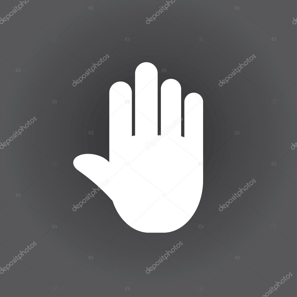 stop. icon hand