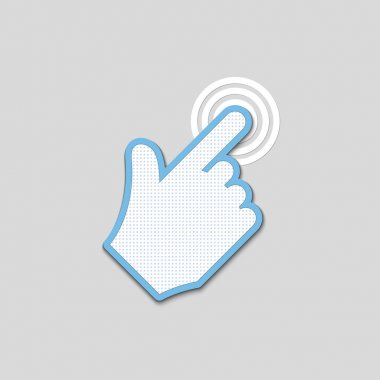 Click. hand icon pointer textured. vector eps8 stock vector