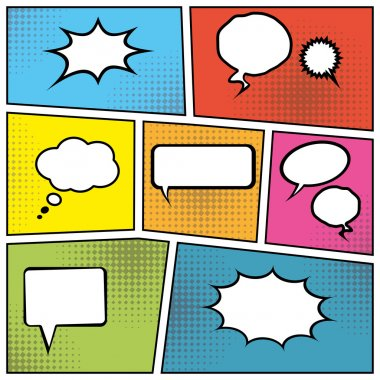 Blank speech bubbles