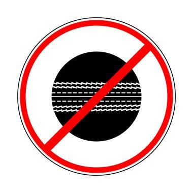 Sign prohibiting cricket ball