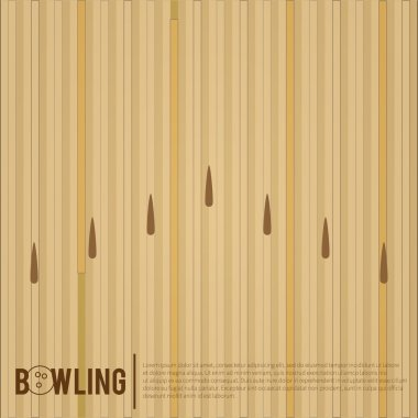 Bowling alley, surface of a bowling