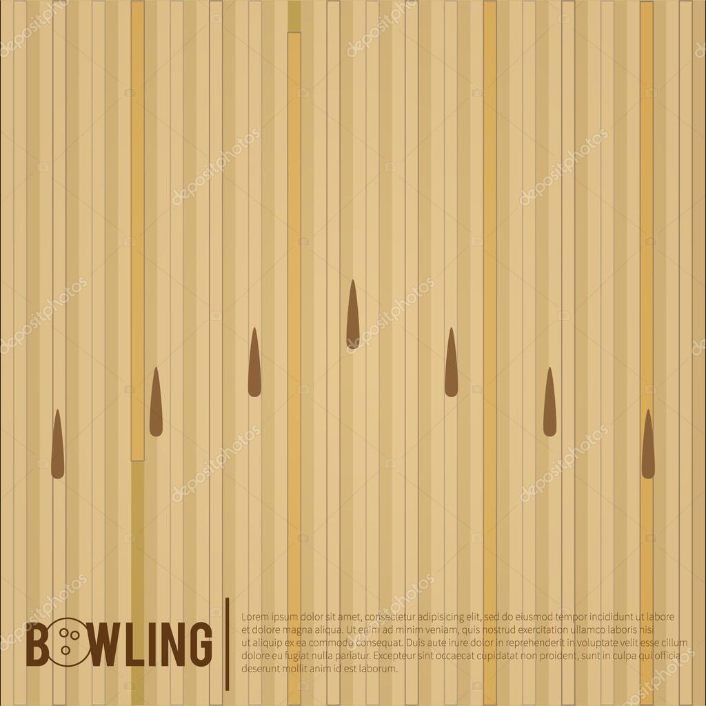 Bowling alley, surface...