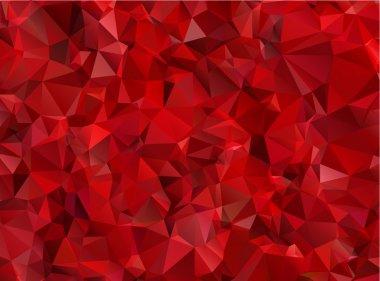 """Картина, постер, плакат, фотообои """"гранат красный абстрактный фоновый многоугольник"""", артикул 40065897"""