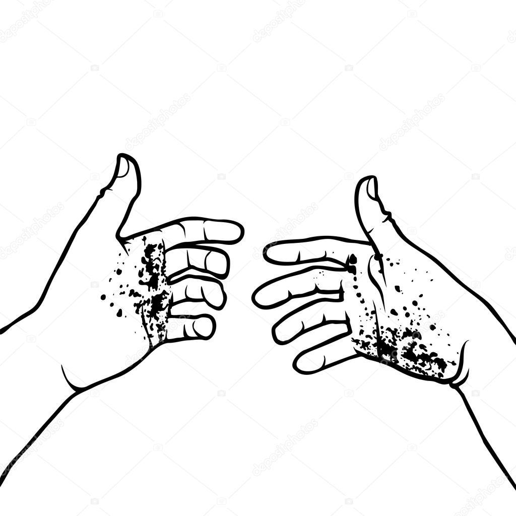 Dirty Hands Stock Vector 169 Paveltalashov 40063885