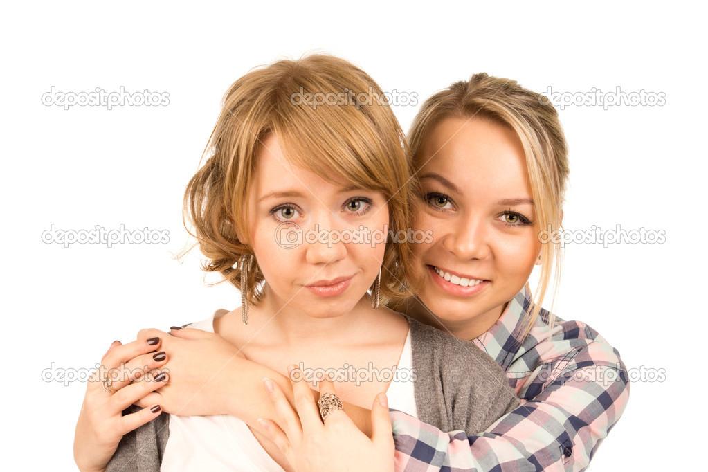 Affectionate woman friends