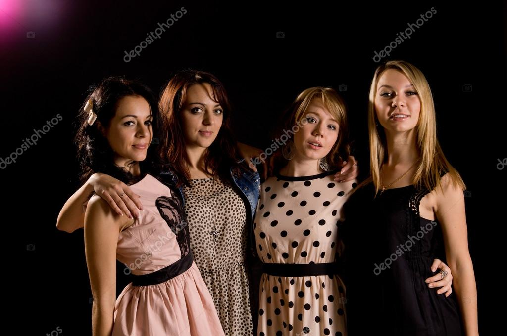 Four sexy teenage girls