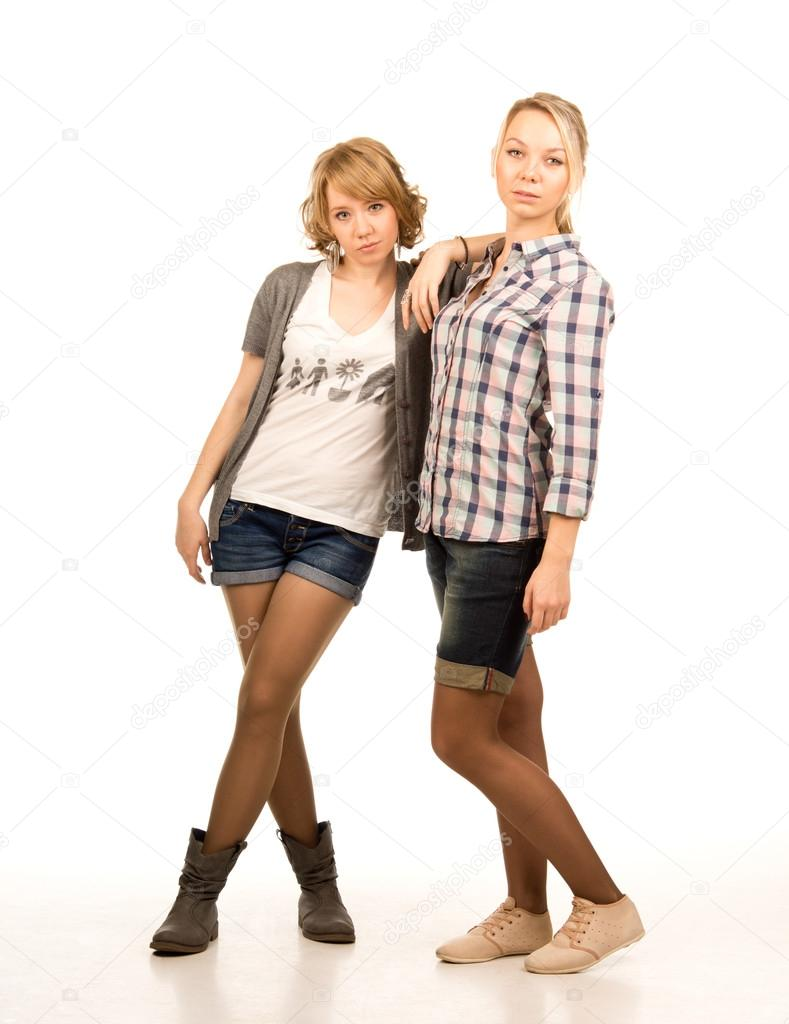 Two attractive blonde students