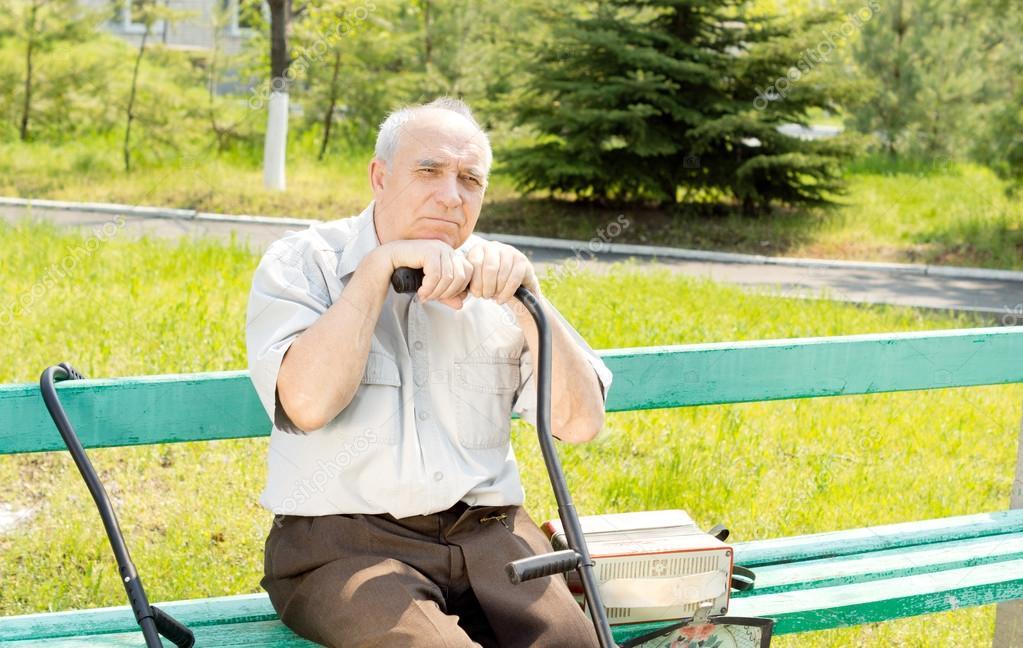 Senior man outdoors