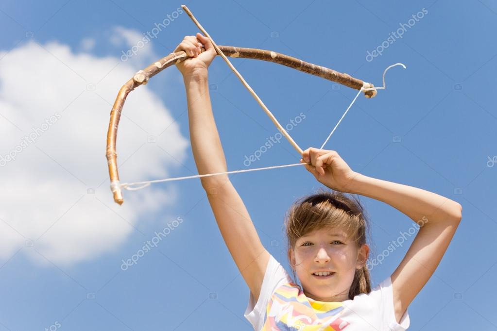 Archery with bow and arrow