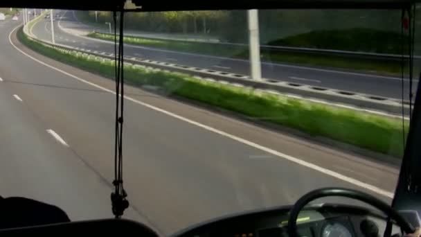 Bus windscreen view