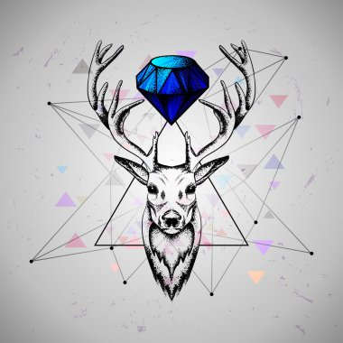 Deer with diamond