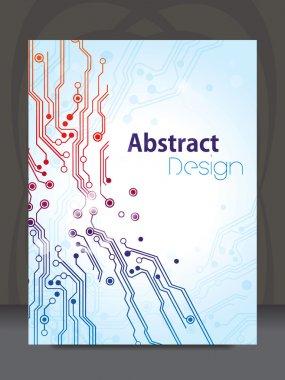 Vector circuit board design, Eps 10 vector illustration