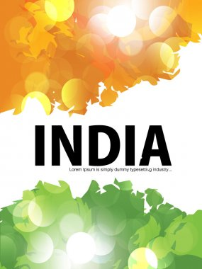 Beautiful & colorful India flyer design or cover design, EPS 10