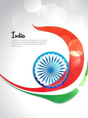 India independence day with tricolor set of flyer design or header, EPS 10. 15 august, grunge, flag