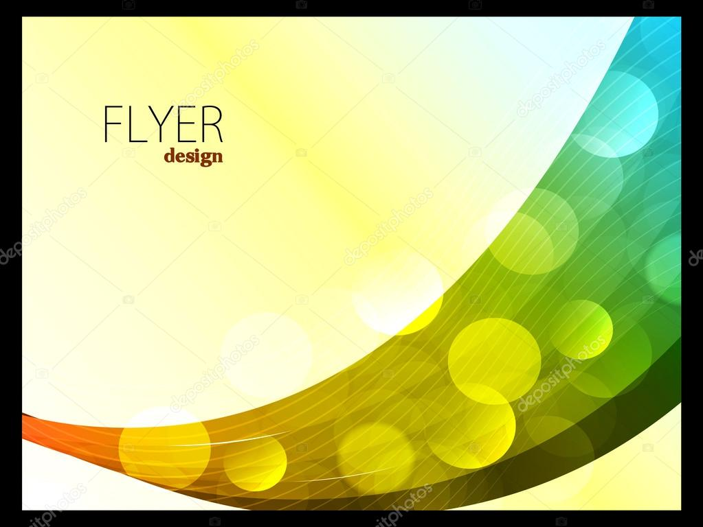 Colour Full Waves with Corporate Flyer