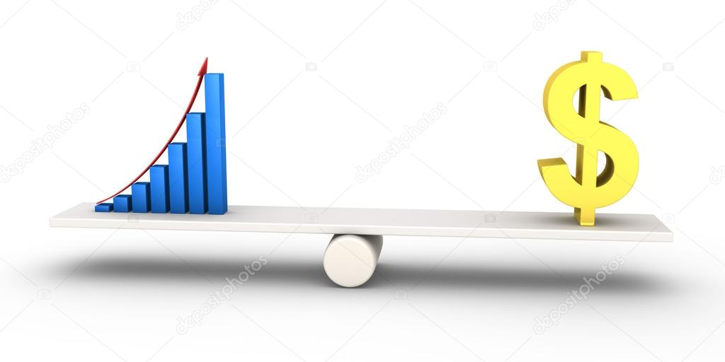 Good Results Graph Equals With Dollar Symbol Stock Photo