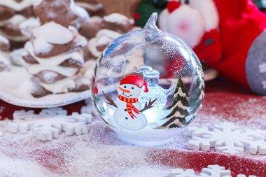 Christmas crystal ball .
