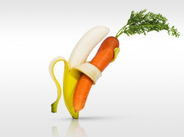 Banana and carrot dancing for health