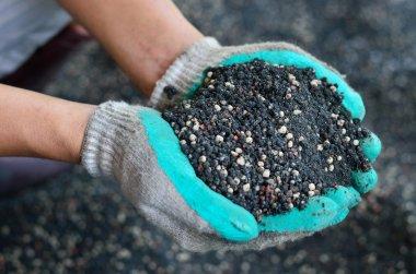 The mix of plant chemical fertilizer