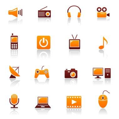 Media and telecom vector icon set
