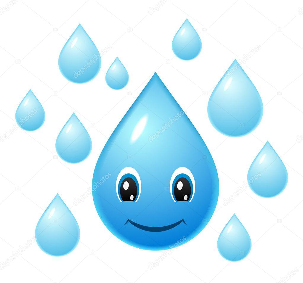 Smiling water drop