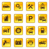 Photo Car service and repair icons