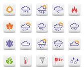 Fotografie Wetter und Jahreszeiten-Icon-set