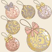 retro vánoční koule set