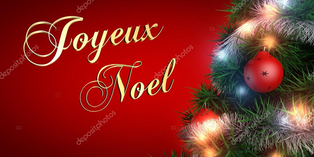 merry christmas french stock photo - Merry Christmas French