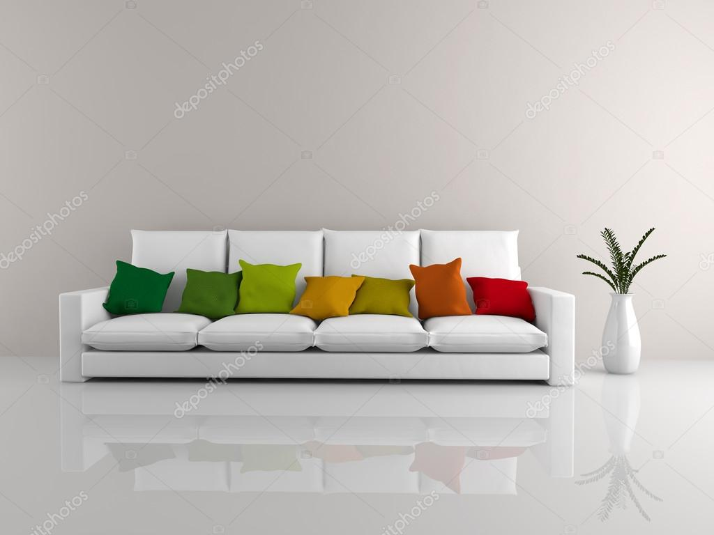 Sof minimalista blanco foto de stock zinco79 37699237 for Sofa minimalista
