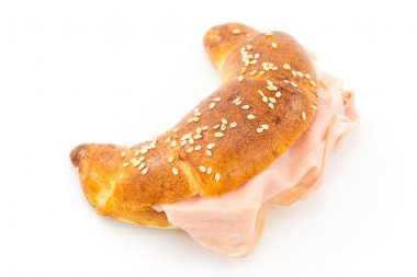 Savory croissant with mortadella