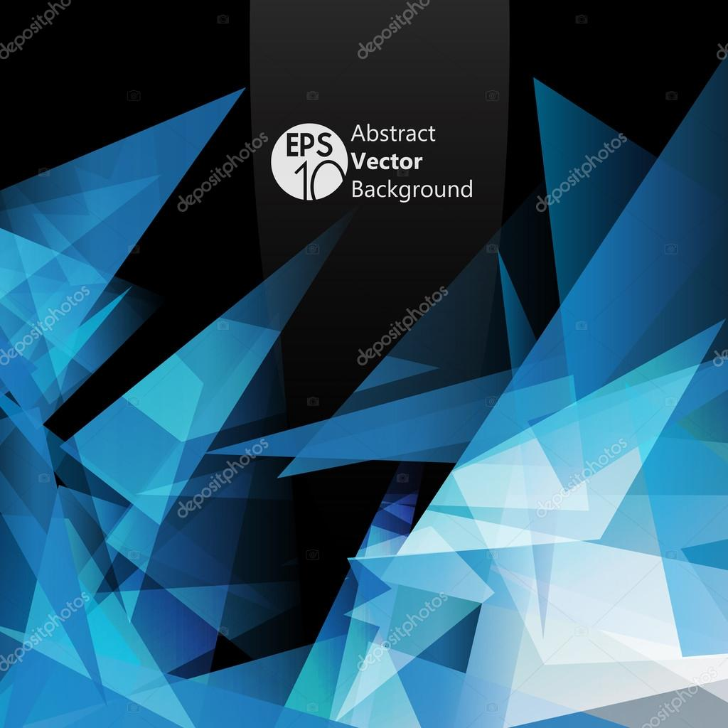 Crystal abstract vector flyer
