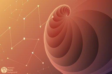 The Golden Ratio, a mathematical phenomenon. Abstract vector background