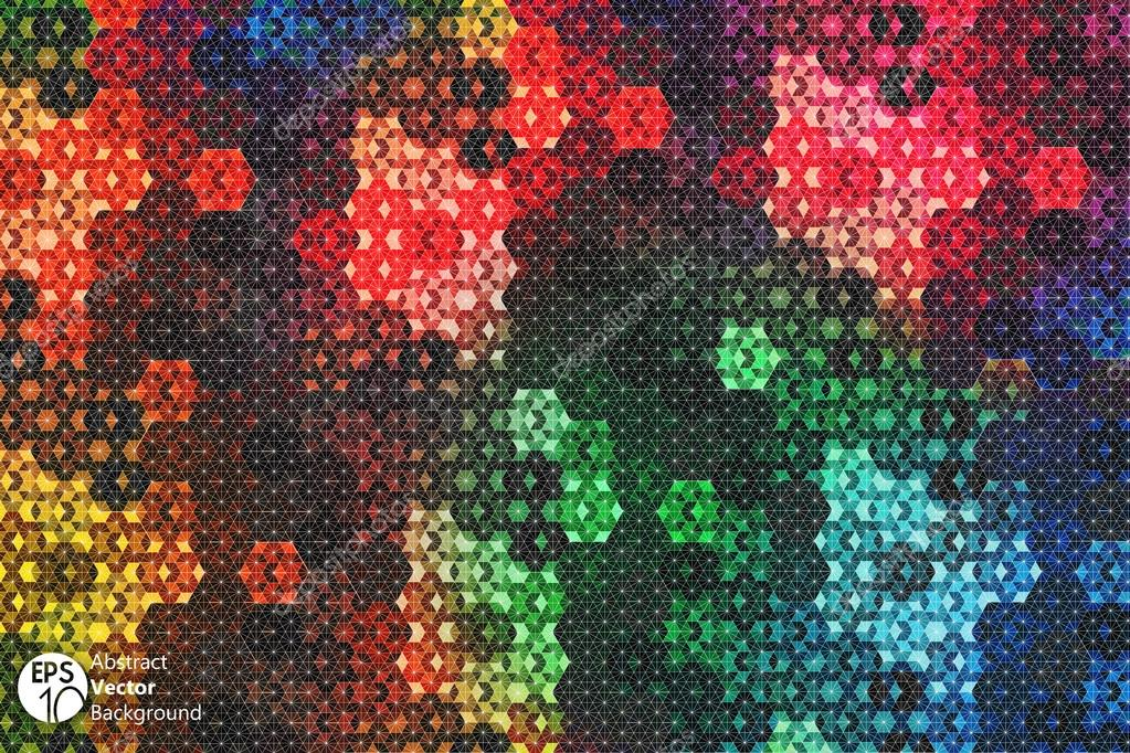 280ee3377 Vetor de ilusão de ótica do hexágono caleidoscópio — Vetores de Stock