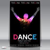Fényképek Dance Party háttér. Vektoros illusztráció
