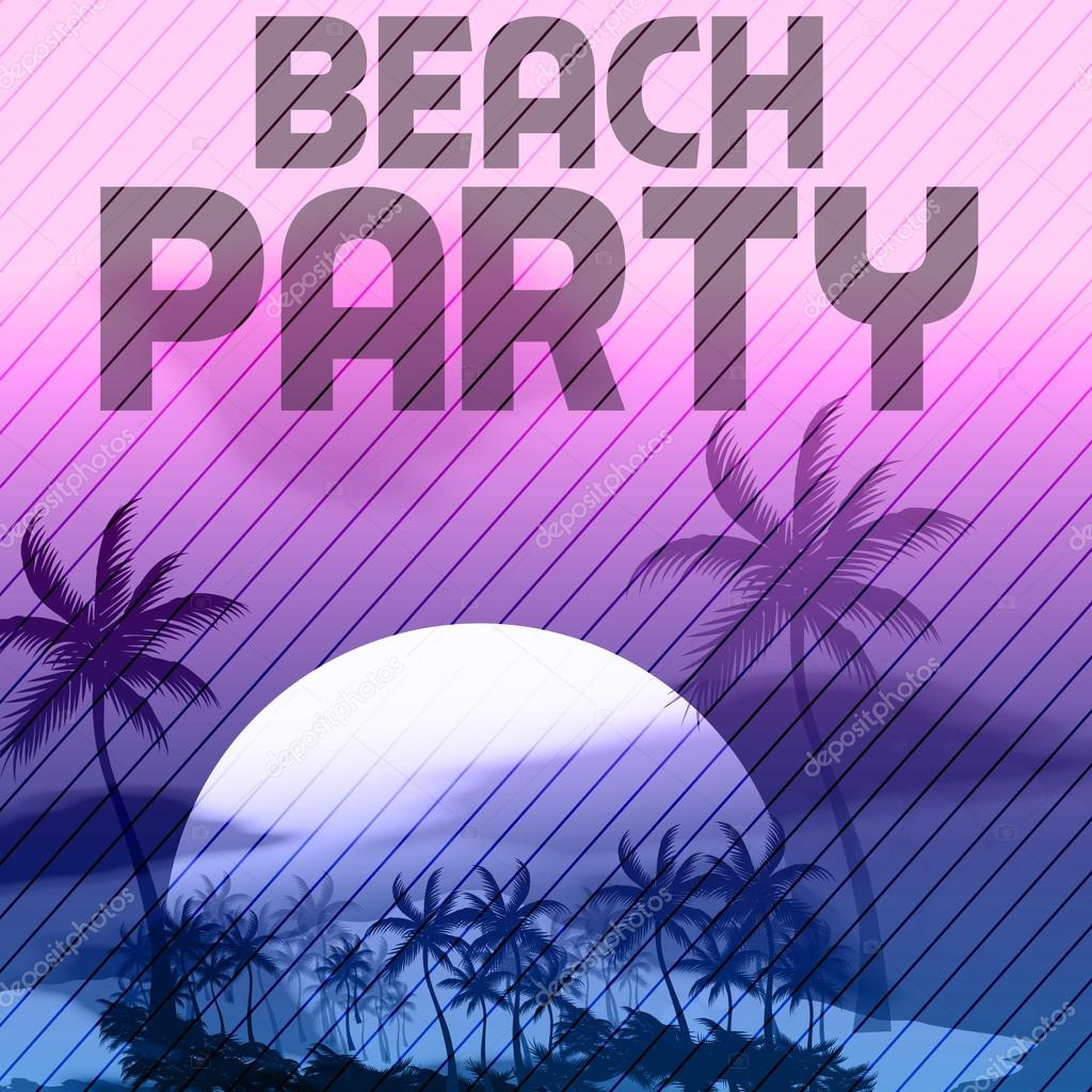 Sunset Beach Summer Party Flyer Design