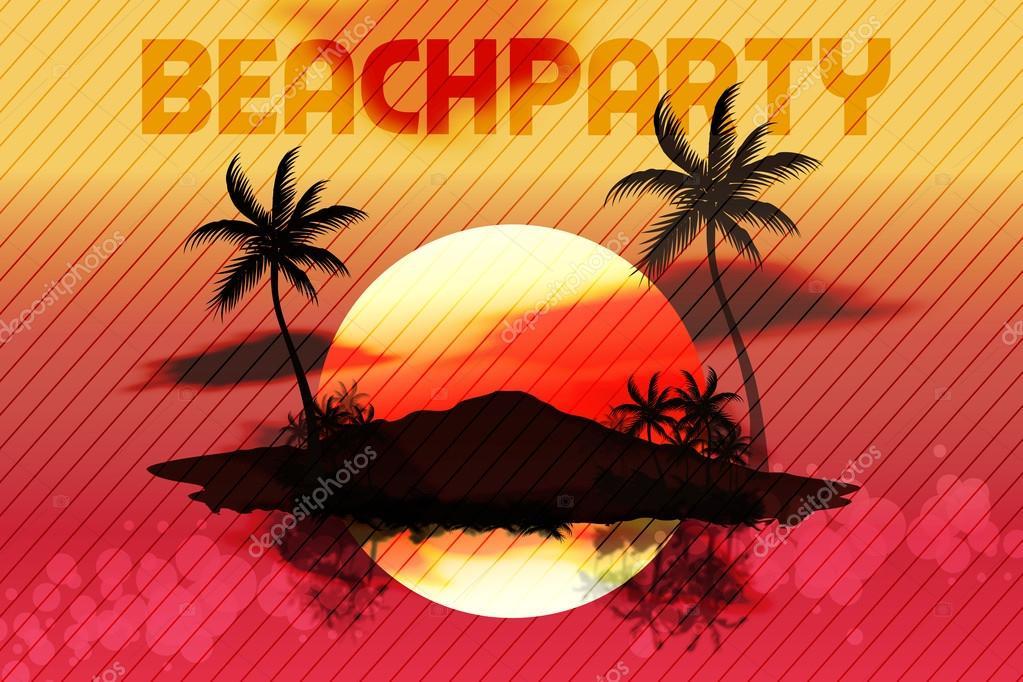 Sunset Beach Summer Party Flyer Design