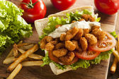 Fotografie hausgemachte Shrimp-po-Boy-sandwich