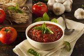 Fotografie domácí červený italský pokrm omáčka