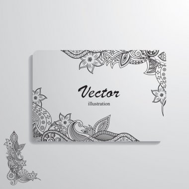 Vector illustration of cards decorated with a complex pattern clip art vector